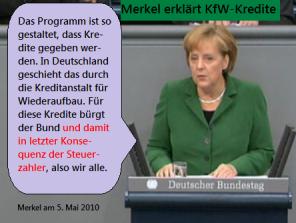 Merkel erklärt KfW-Kredite