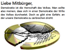 Gefahr für die Demokratie