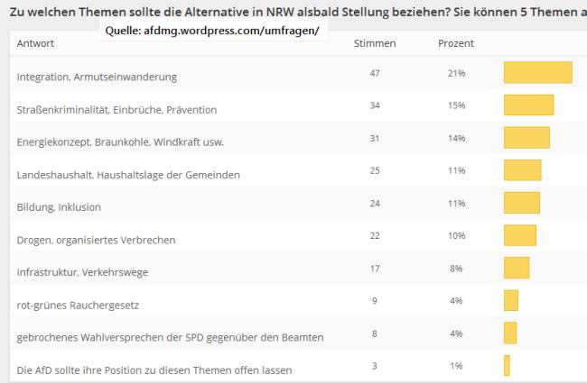 Umfrageergebnis-Themen-NRW
