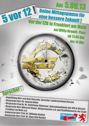 5.9.2013 Frankfurt: Groß-Demo vor der EZB