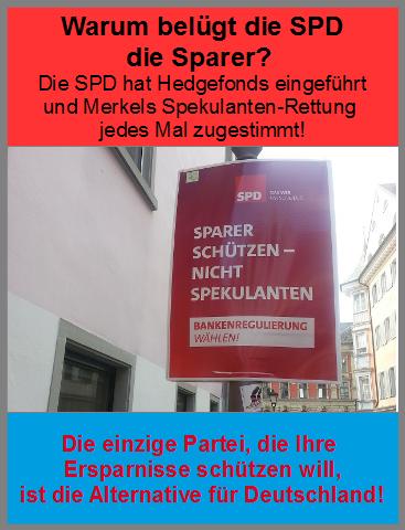 SPD-Luegenplakat
