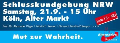 21.9.2013 Köln: Abschlusskundgebung NRW