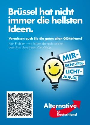 Europawahl-Aktionen-Gluehbirnen